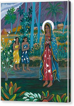 Guadalupe Visits Gauguin Canvas Print by James Roderick