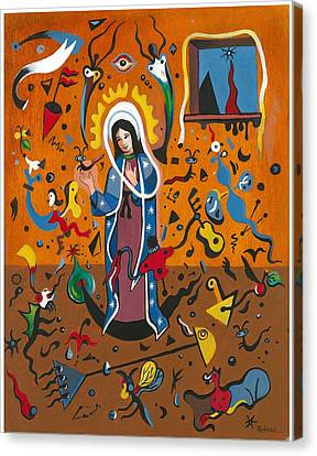 Guadalupe Visits Miro Canvas Print by James Roderick