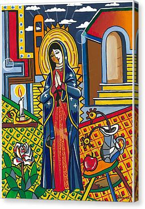 Guadalupe Visits Picasso Canvas Print by James Roderick