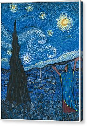 Guadalupe Visits Van Gogh Canvas Print by James Roderick