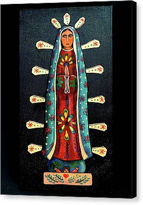 Guadalupe Wood Carving Canvas Print by Candy Mayer