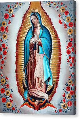 Guadalupe's Virgin Canvas Print by Jose Luis Montes