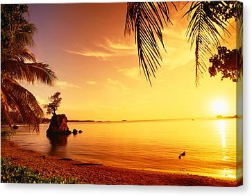 Guam, Agat Bay Canvas Print by Dave Fleetham - Printscapes