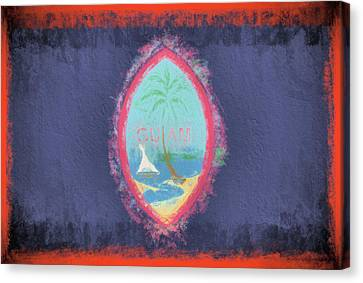Canvas Print featuring the digital art Guam Flag by JC Findley