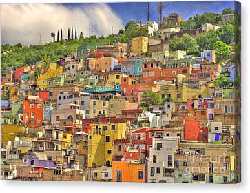 Guanajuato Hillside Canvas Print by Juli Scalzi