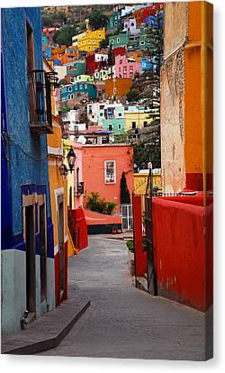 Guanajuato Lane Canvas Print by Skip Hunt
