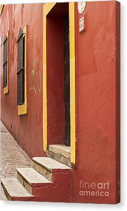 Old Home Place Canvas Print - Guanajuato Mexico Colorful Building by Juli Scalzi