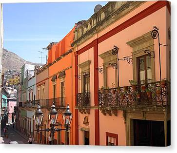 Canvas Print featuring the photograph Guanajuato by Mary-Lee Sanders