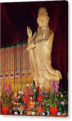 Guanyin Bodhisattva - Jin'an's Rare Female Buddha Canvas Print by Christine Till