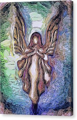 Guardian Angel - 2 Canvas Print by Art OLena