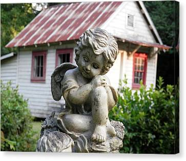 Country Widows Guardian Angel Canvas Print