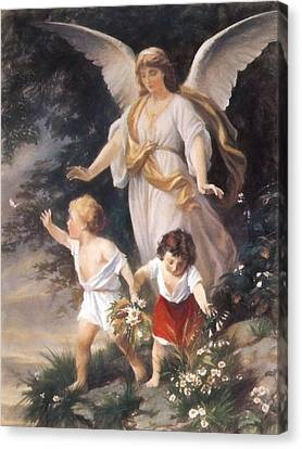 Guardian Angel Pastel Canvas Print by Roy Pedersen