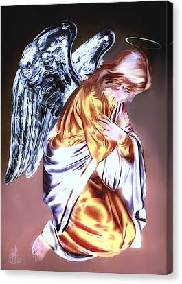 Canvas Print featuring the photograph Guardian Angel by Pennie  McCracken