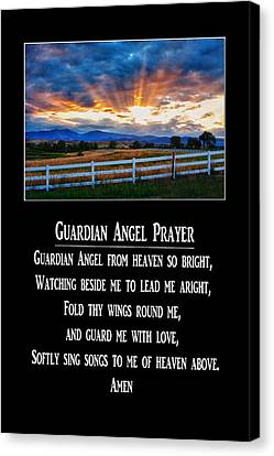 Guardian Angel Prayer Canvas Print by James BO  Insogna