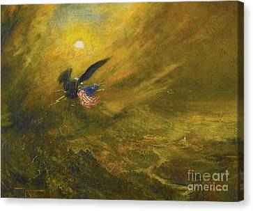 Guardian Of American Liberty Canvas Print by Celestial Images