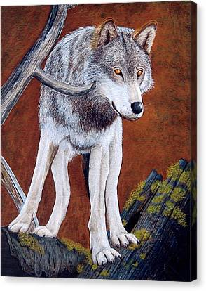 Guardian Of The Den Canvas Print by Lorraine Foster