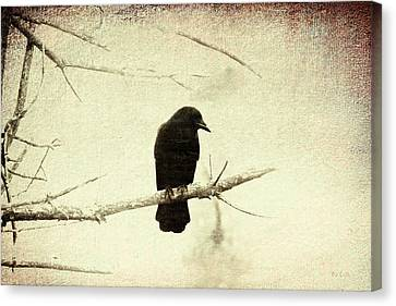 Bird Canvas Print - Guardian Of The Forest by Bob Orsillo