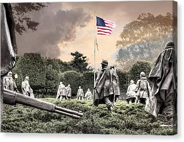 U.s. Air Force Canvas Print - Guardians by JC Findley