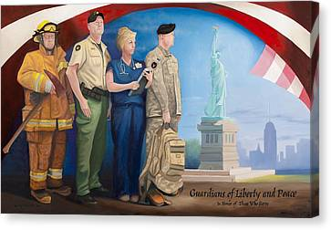 Guardians Of Liberty And Peace Canvas Print by Michael Wilson