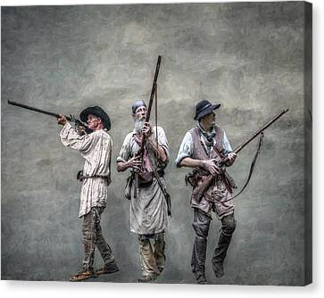 Guardians Of The Frontier Canvas Print by Randy Steele