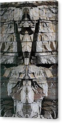 Canvas Print featuring the photograph Guardians Of The Lake by Cathie Douglas