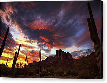 Guardians Of The Mountain Canvas Print by Rick Furmanek
