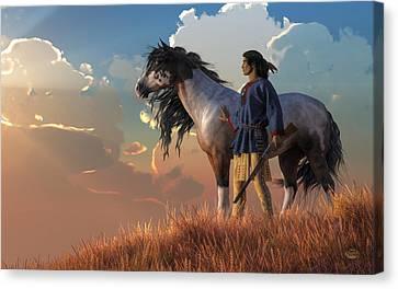 Guardians Of The Plains Canvas Print by Daniel Eskridge