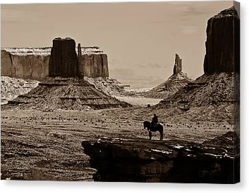 Guardians Of The Valley Canvas Print by E Mac MacKay