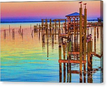 Guarding The Dock Canvas Print