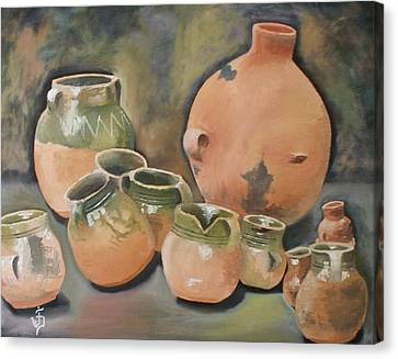 Guatemala Ceramic Pots  Canvas Print by Jose Velasquez
