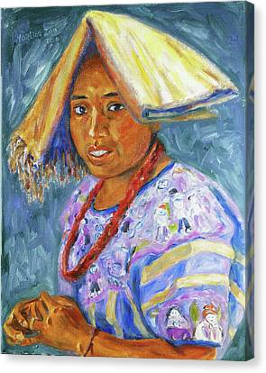 Canvas Print featuring the painting Guatemala Impression II by Xueling Zou
