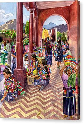 Guatemalan Marketplace Canvas Print