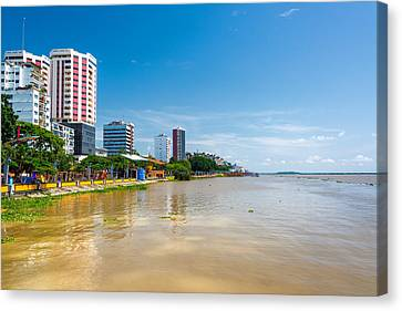Guayaquil And Guayas River Canvas Print by Jess Kraft