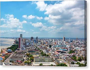Guayaquil Cityscape Canvas Print by Jess Kraft