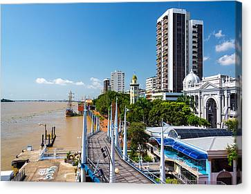 Guayaquil Malecon View Canvas Print by Jess Kraft