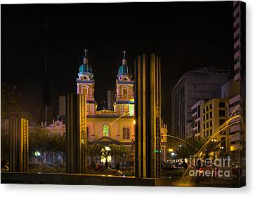 Guayaquil Metropolitan Cathedral Of Saint Peter Canvas Print by Al Bourassa