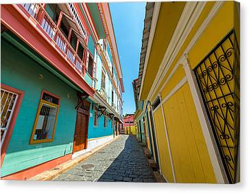 Guayaquil Street View Canvas Print by Jess Kraft