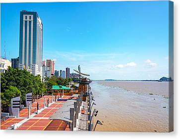 Guayaquil Waterfront Canvas Print by Jess Kraft