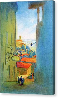 Gubbio Down The Hill Canvas Print