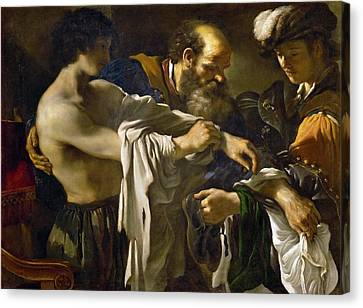 Prodigal Canvas Print - Guercino 1591 1666 Return Of The Prodigal Son.jpeg by Anne Pool