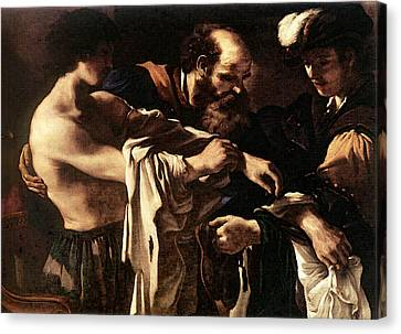 Prodigal Canvas Print - Guercino Return Of The Prodigal Son by Guercino