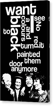 Guess The Name Of The Song. Rollling Canvas Print by Pablo Franchi