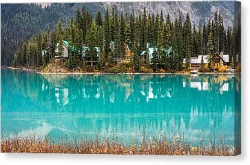 Canvas Print featuring the photograph Emerald Lake by Pierre Leclerc Photography