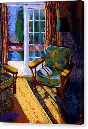 Guesthouse In Santa Fe Canvas Print by Sandra Ortega