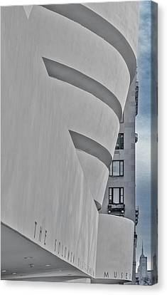 Canvas Print featuring the photograph Guggenheim Museum And Esb by Susan Candelario