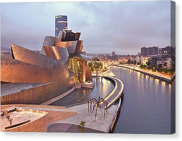 Canvas Print featuring the photograph Guggenheim Museum Bilbao Spain by Marek Stepan