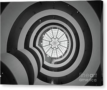 Skylight Canvas Print - Guggenheim Museum by Inge Johnsson