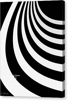 Guggenheim Plus Canvas Print by Joe Bonita