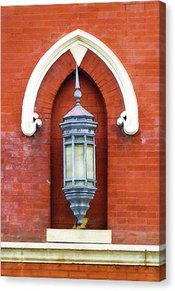 Canvas Print featuring the painting Guiding Light At The Mother Church by Sandy MacGowan