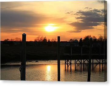 Guilford Low Tide Canvas Print
